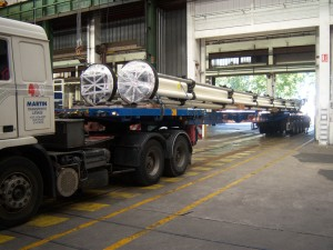 2010-2011/ Risers 24 m length - Loading ex Cameron Fos to RTM and to South Korea – DSME Pazflor Project