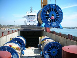 2009 / Tourets - 20 x Cable Rills 1720 tons  86 tons per unit  loading at Fos sur Mer for Full charter to Lobito