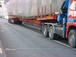 1997 /Arcelor Lux / 41 m length rails for Korea / shipment on 40 flat bed