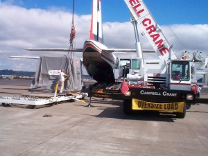 1998 / Cruise turbine / 50 t Charter Flight  to USA west coast for urgent turbine repair on Cruise Vessel